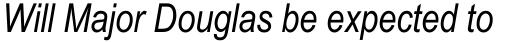 Arial Narrow WGL Italic sample