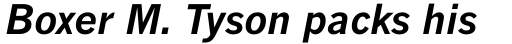 Monotype News Gothic WGL Bold Italic sample