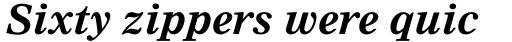 Nimrod Pro Bold Italic sample