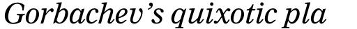 Nimrod Pro Cyrillic Italic sample