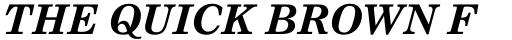 Nimrod Pro Greek Bold Italic sample