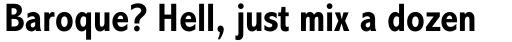 Abadi Pro Condensed Bold sample