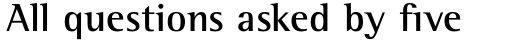 Rotis Semi Serif Std Bold sample