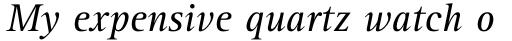 Rotis Serif Std 56 Italic sample