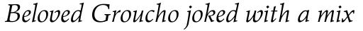Wile Std Italic sample