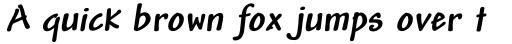 Andy Std Bold Italic sample
