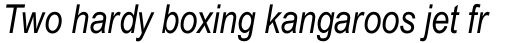 Arial Std Narrow Italic sample