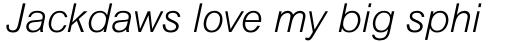 Arial Std Light Italic sample