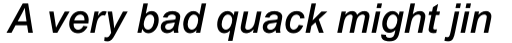 Arial Std Medium Italic sample