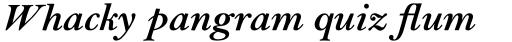 Bell Std Bold Italic sample