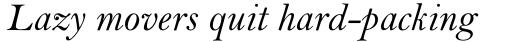 Bell Std Italic sample