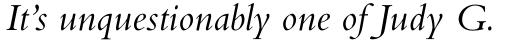Bembo Std Italic sample