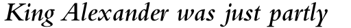 Bembo Std SemiBold Italic sample