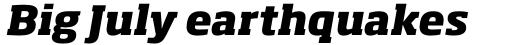 Soho Pro ExtraBold Italic sample