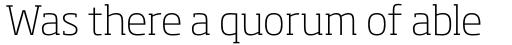 Soho Pro ExtraLight sample