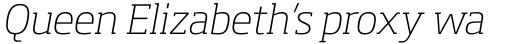 Soho Pro ExtraLight Italic sample