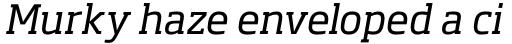 Soho Pro Italic sample