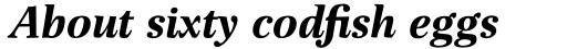 Buccardi Std Bold Italic sample