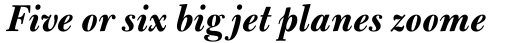 Bulmer Std Bold Italic sample