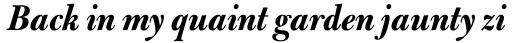 Bulmer Std Display Bold Italic sample