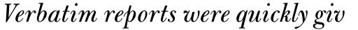 Bulmer Std Italic sample