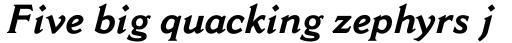 Cantoria Std Bold Italic sample
