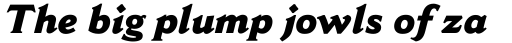 Cantoria Std ExtraBold Italic sample