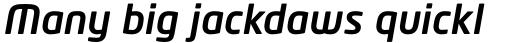 Neo Tech Pro Medium Italic sample