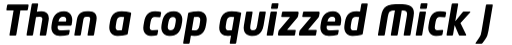 Neo Tech Pro Bold Italic sample