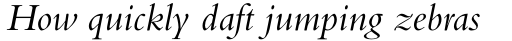 Bembo Pro Italic sample