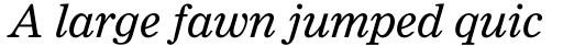 Clarion Std Italic sample