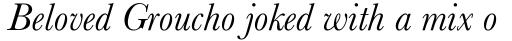 Baskerville Pro Italic sample