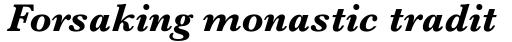 Baskerville Pro Bold Italic sample