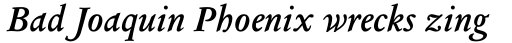 Columbus Pro SemiBold Italic sample
