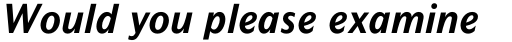 Mahsuri Sans Pro Bold Italic sample