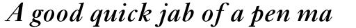 Ehrhardt Std SemiBold Italic sample