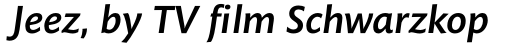 Mundo Sans Pro Medium Italic sample