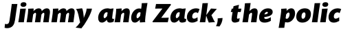 Mundo Sans Pro Black Italic sample