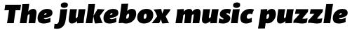 Mundo Sans Pro Ultra Italic sample