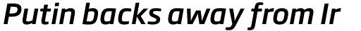 Soho Gothic Std Medium Italic sample