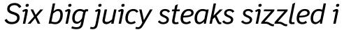 Felbridge Std Italic sample