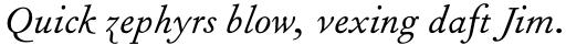 Fournier Std Italic sample