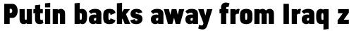 Azbuka Pro Condensed ExtraBlack sample