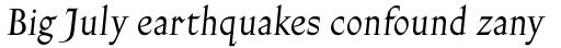 Gill Facia Std Italic sample