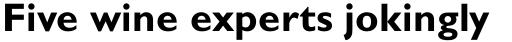 Gill Sans Pro Bold sample