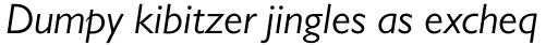 Gill Sans Pro Book Italic sample