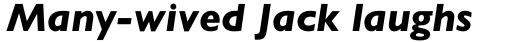 Gill Sans Pro Heavy Italic sample