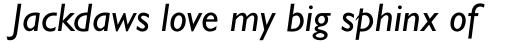 Gill Sans Pro Italic sample