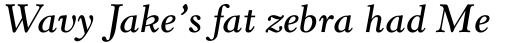 Horley Old Style Std SemiBold Italic sample