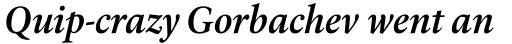 Laurentian Std SemiBold Italic sample